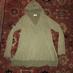 Tops - Olive green hooded Henley